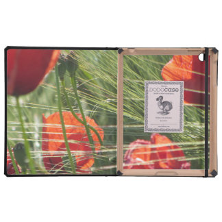 Poppies in Field iPad Folio Cover