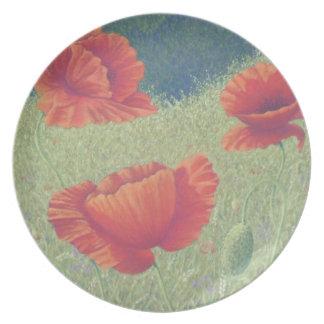 Poppies in Flanders Fields in Pastel Plate