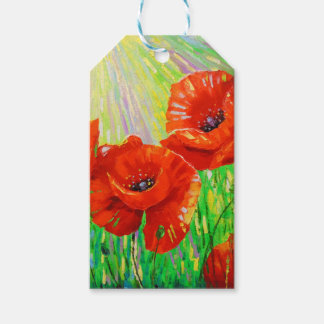 Poppies in sunlight gift tags