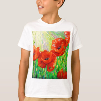 Poppies in sunlight T-Shirt