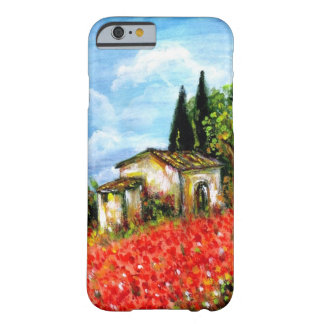 POPPIES IN TUSCANY BARELY THERE iPhone 6 CASE
