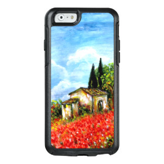POPPIES IN TUSCANY / Landscape with Flower Fields OtterBox iPhone 6/6s Case