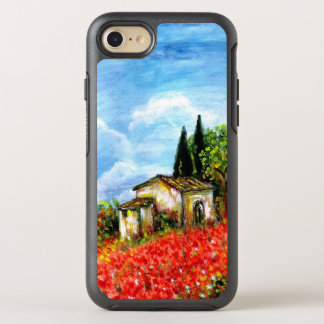 POPPIES IN TUSCANY / Landscape with Flower Fields OtterBox Symmetry iPhone 8/7 Case