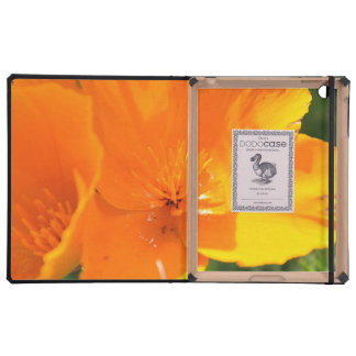 poppies iPad folio case