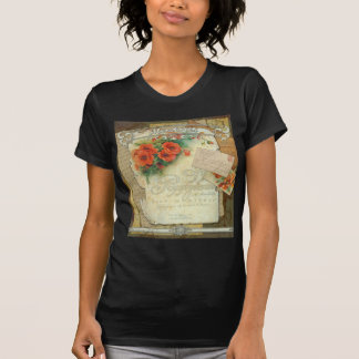 Poppies Memories and French Script T-Shirt