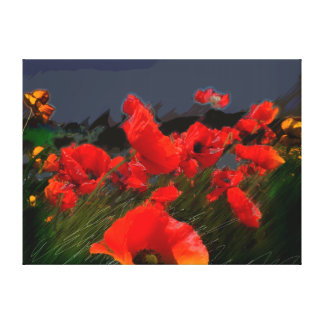 Poppies of Freedom Gallery Wrap Canvas