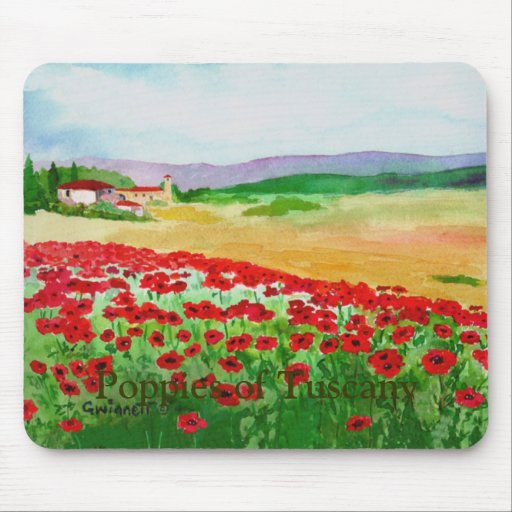 Poppies of Tuscany Mousepad