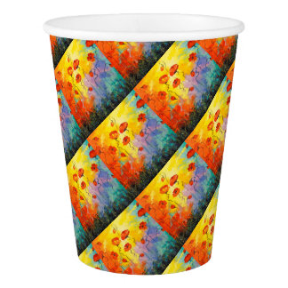 Poppies Paper Cup