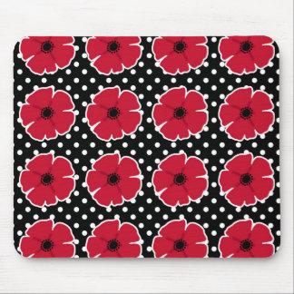 Poppies & Polka Dots Mouse Pad