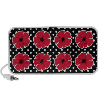 Poppies & Polka Dots PC Speakers