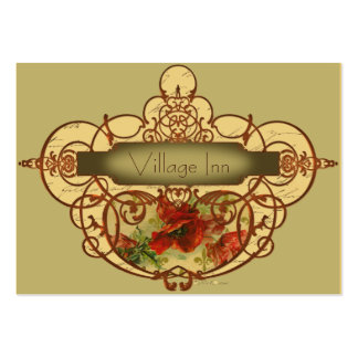 Poppies & Scrolls Steampunk Design Pack Of Chubby Business Cards