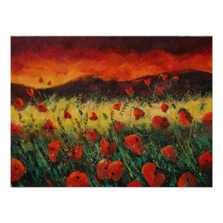 poppies sunset 68 poster