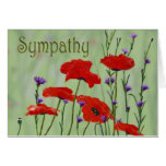 Poppies Sympathy Greeting Card