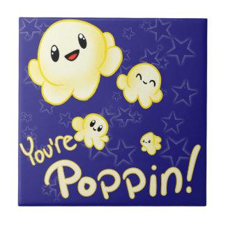 Poppin Popcorn Ceramic Tile