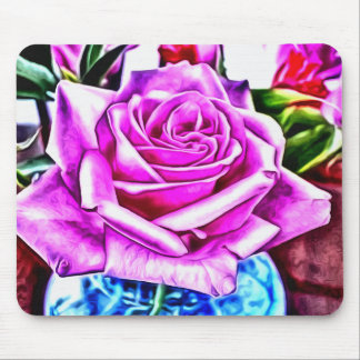©Poppin Purple Rose Mouse Pad