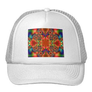 Popping Botanical Colors Fractal Trucker Hat