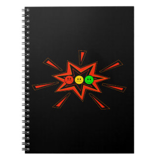 Popping Horizontal Moody Stoplight Spiral Notebook