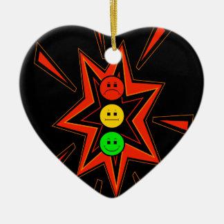 Popping Moody Stoplight Ceramic Heart Decoration