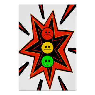 Popping Moody Stoplight Close Up Poster