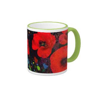 Popping Poppies Mug Coffee Mugs