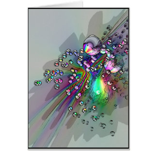 Popping the Cork - New Year Bubbles Greeting Card