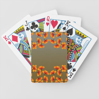 poppy4 pattern bicycle playing cards