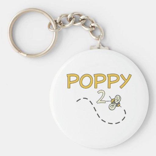 Poppy 2 Bee Key Chain