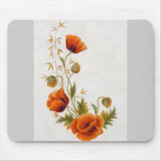 Poppy art mouse pad