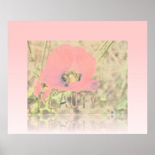 Poppy Beauty Reflection Poster