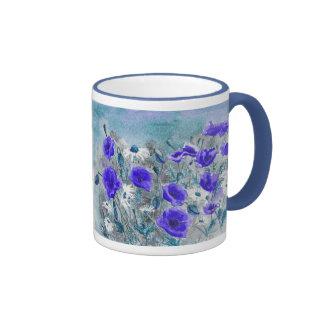 'Poppy Blue' Mug