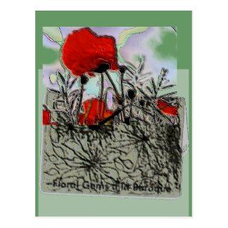 Poppy Collage Postcards