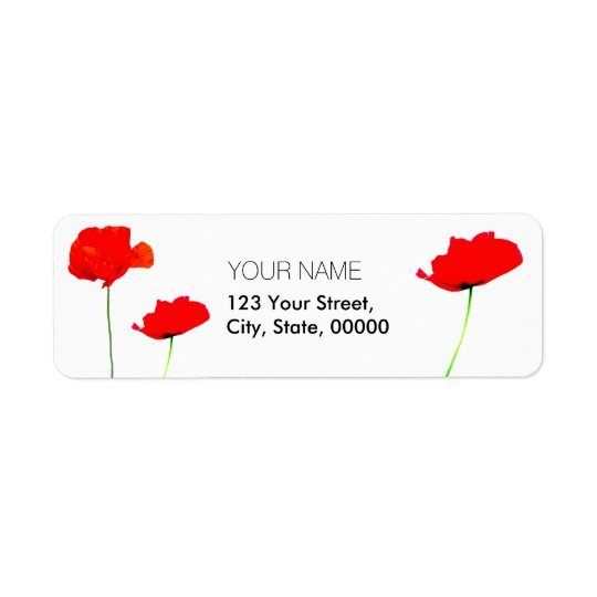 POPPY Collection 02 Return Address Labels