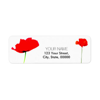 POPPY Collection 05 Return Address Labels