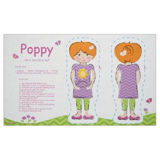 Poppy Cut & Sew Pillow Doll Fabric