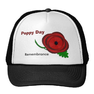 Poppy Day, Remembrance cap Trucker Hat