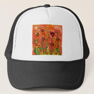 poppy day trucker hat
