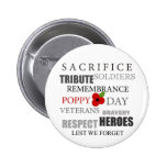 Poppy day words - Badge Buttons