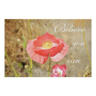 Poppy Expressions Believe Poster