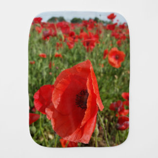 Poppy Field Burp Cloth