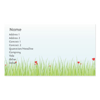 Poppy Field - Business Pack Of Standard Business Cards