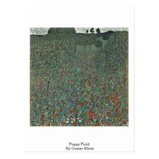 Poppy Field By Gustav Klimt Post Card