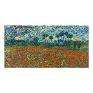 Poppy Field by Vincent Van Gogh Photo Card Template
