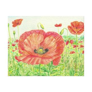 Poppy Field Canvas Prints