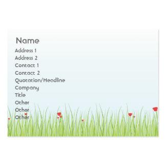 Poppy Field - Chubby Business Card Templates