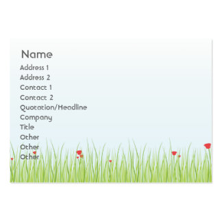 Poppy Field - Chubby Pack Of Chubby Business Cards
