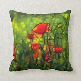 Poppy field cushion
