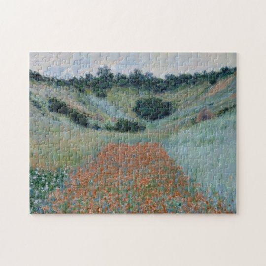Poppy Field in a Hollow Near Giverny by Monet Jigsaw Puzzle