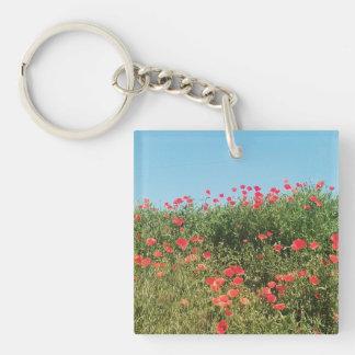 Poppy Field Keychain