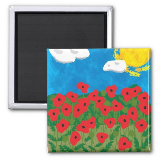 Poppy field magnet