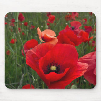 Poppy Field Mouse Mat Mouse Pad